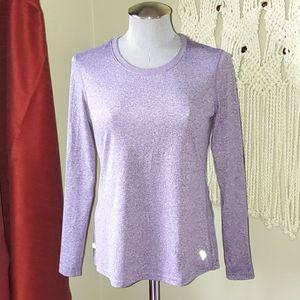 Danskin Now Semi-fitted Purple Dri-fit Long Sleeve